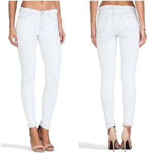 •J Brand• Midrise Super Skinny Jeans in Frost Bite